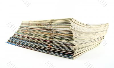 Stack of old thin magazines