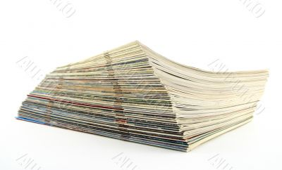 Stack of old magazines