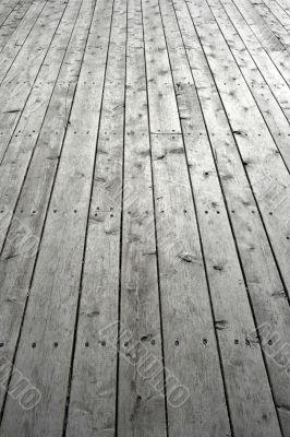 Nailed wooden flooring
