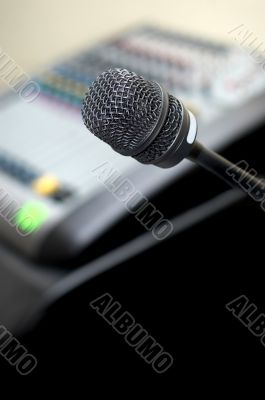 microphone and sound mixer