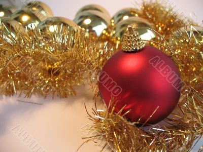 Christmas decoration with red ball