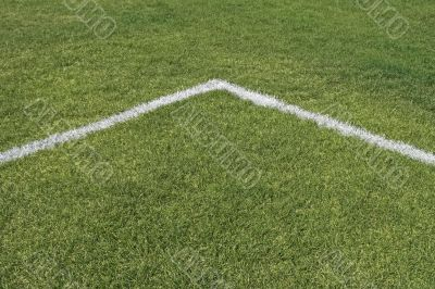 Corner lines of a playing field