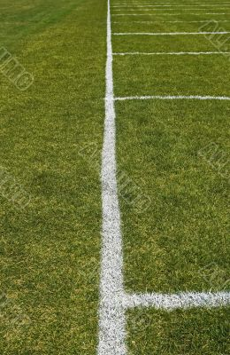 Side boundary line of a football field