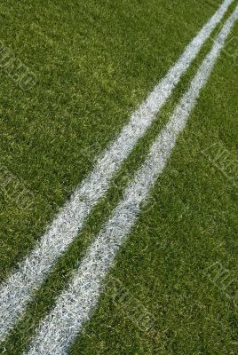 Boundary lines of a playing field, diagonal