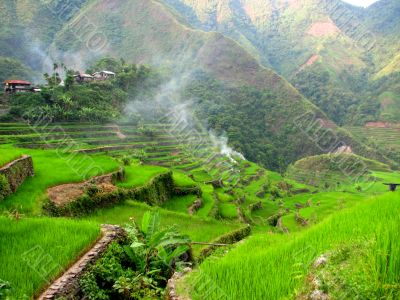 Batad Village on Top of Rice Terraces