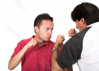 casual guys arguing