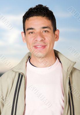 handsome latin american man