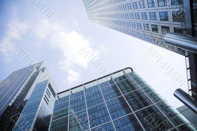 corporate buildings towards the sky 3