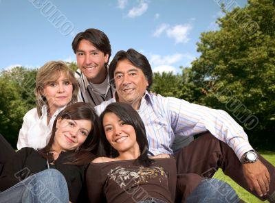 beautiful family outdoors