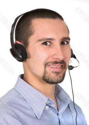 friendly customer operator