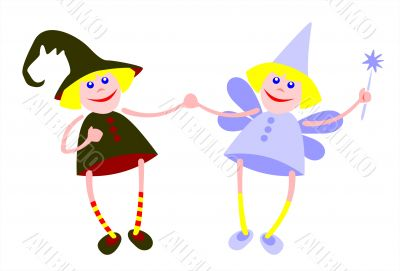 Witch and fairy