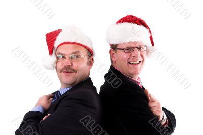 Businessman in christmas spirit