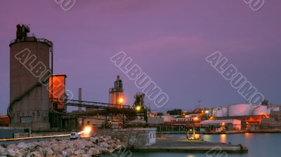 Industrial site in Piraeus, Greece