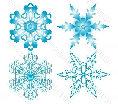 vector blue snowflakes