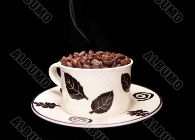 Steaming Coffee Beans