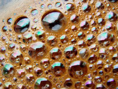 fresh coffee foam