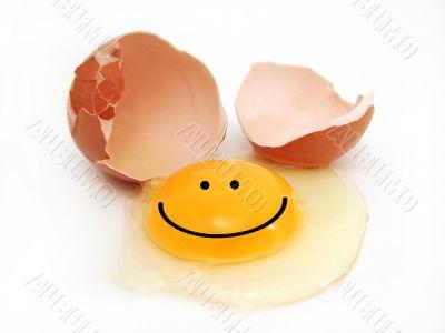 Happy broken egg