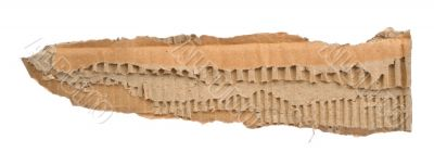 strip of torn out cardboard