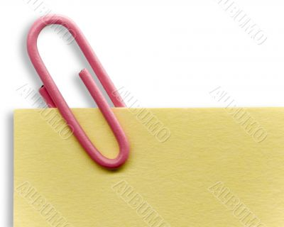 Paperclip on a note