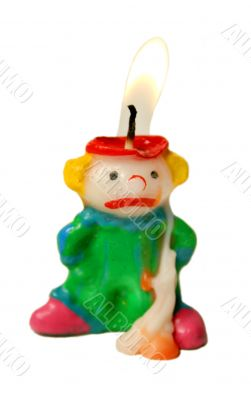Melting Clown Candle