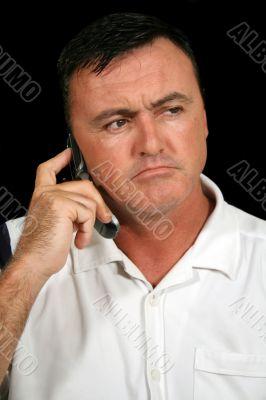 Unhappy Cell Phone Man