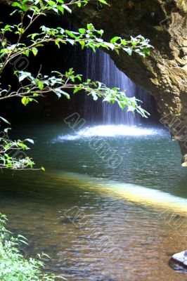 Waterfall In Cave