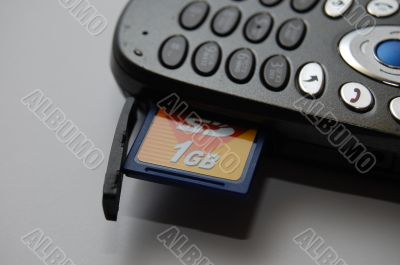 Photo of the mobile Phone and flash-card