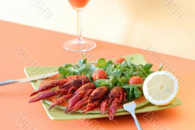 seafood on a plate