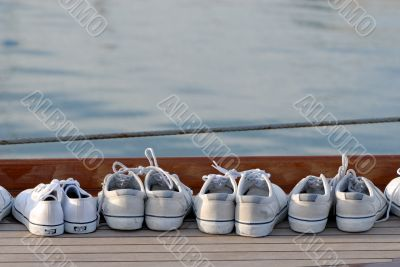 shoes on the boat