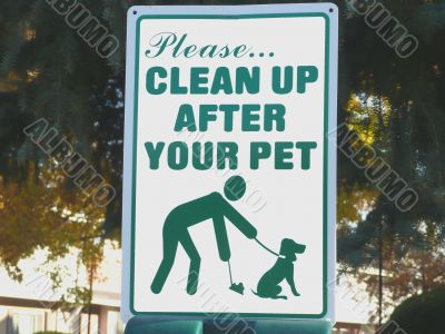Clean Up Sign