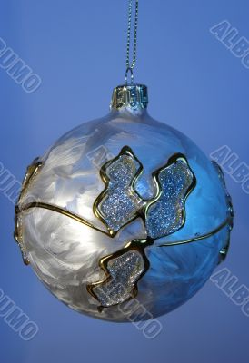 new year  glass ball