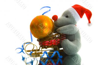 Christmas decoration with mouse
