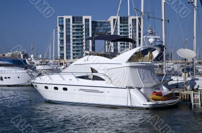Luxurious motor yacht