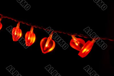 Glowing red garland