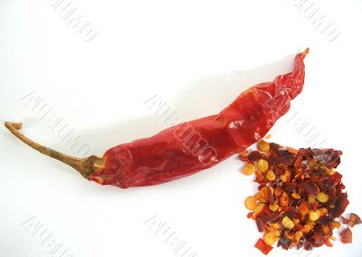 Sun dried Red Chilli and Chilli Flakes