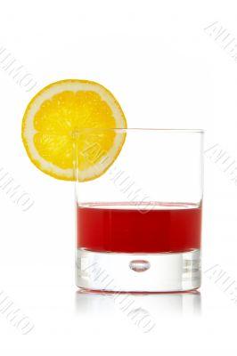 Fresh juice with lemon slice