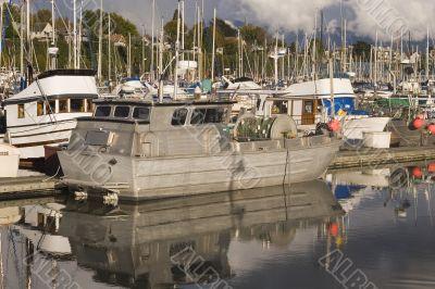 Old Grey Boat
