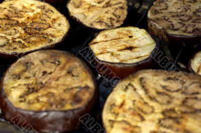 Eggplant on grill