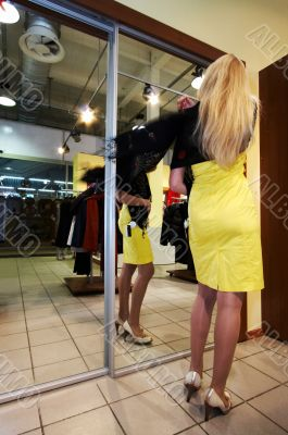 girl in a boutique
