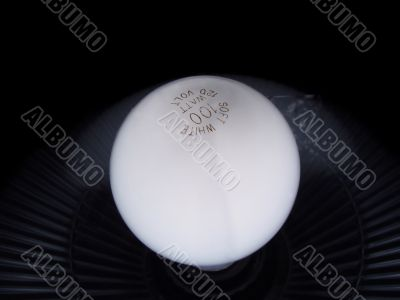 Soft white lamp bulb