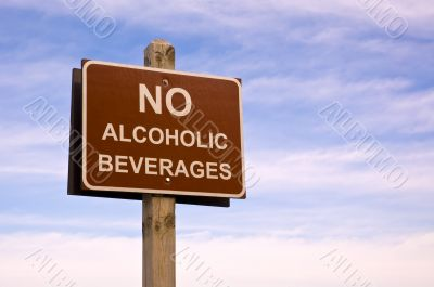 No alcoholic beverages