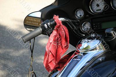 Motorbike with biker accessories