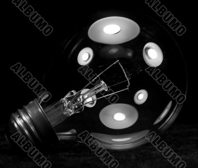 Close Up of a Clear Light Bulb