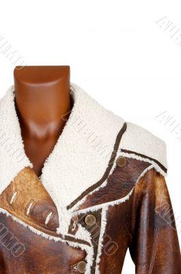 female leather coat