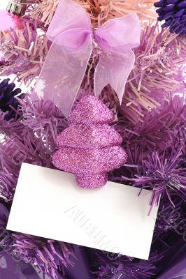 Christmas tree / Blank Greeting Card