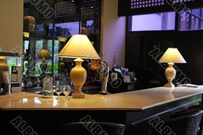 Elegant bar counter