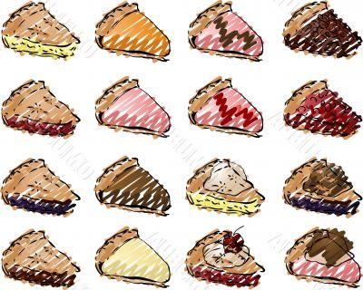 Pies illustration