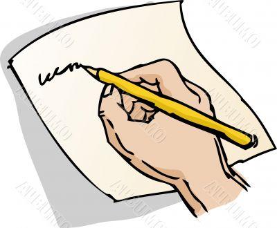 Hand writing illustration