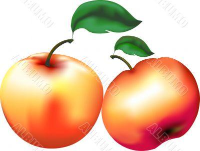 Red juicy apples