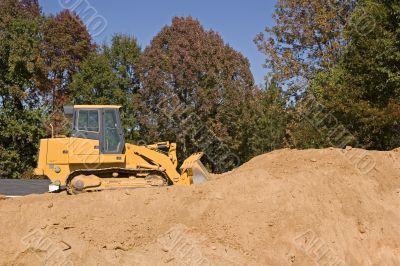 Bulldozer on Dirt